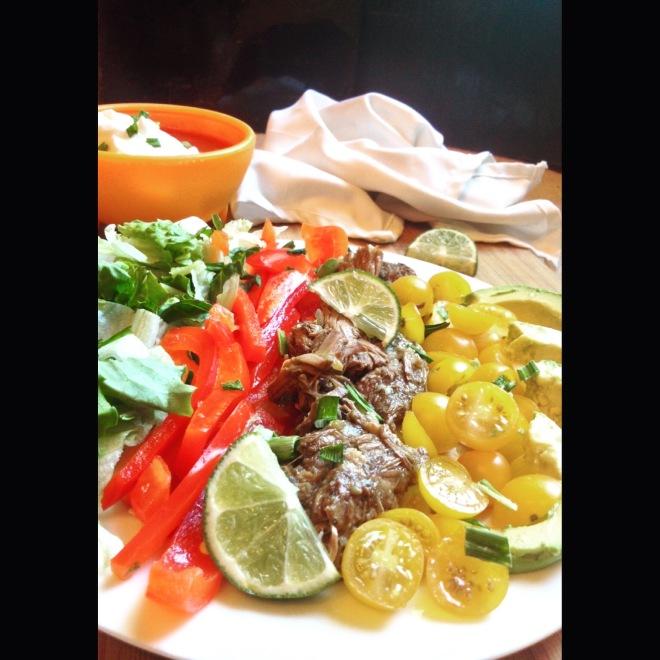 cinco de mayo skinny beef barbacoa salad